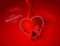 Fondo astratto del biglietto di S. Valentino con cuore Immagine Stock