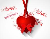 Fondo astratto del biglietto di S. Valentino con cuore Immagini Stock