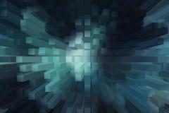 Fondo astratto del blocco 3D Fotografie Stock