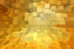 Fondo astratto del blocco 3D Fotografia Stock