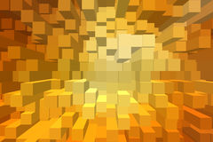 Fondo astratto del blocco 3D Immagini Stock