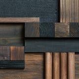 Fondo astratto del blocco di legno Immagine Stock Libera da Diritti