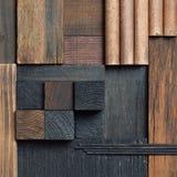 Fondo astratto del blocco di legno Immagini Stock