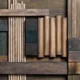 Fondo astratto del blocco di legno Fotografia Stock