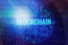 Fondo astratto del blockchain illustrazione vettoriale