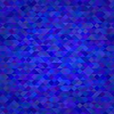 Fondo astratto del blu del triangolo Fotografia Stock