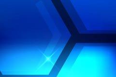Fondo astratto del blu di esagono Fotografie Stock