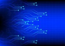 Fondo astratto del blu di tecnologia digitale di elettronica Immagini Stock