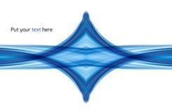 Fondo astratto del blu di turbinio di simmetria Immagine Stock