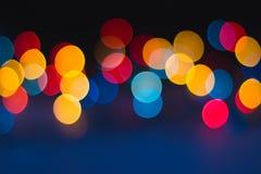 Fondo astratto del bokeh delle luci di Natale Fotografia Stock Libera da Diritti