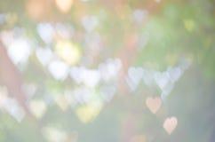 Fondo astratto del bokeh di forma del cuore Fotografia Stock