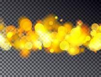 Fondo astratto del bokeh di vettore Defocused festivo trasparente Immagine Stock