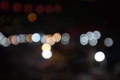 Fondo astratto del bokeh, partito del bokeh nella notte, fondo del bokeh delle iluminazioni pubbliche della città di notte, fondo Immagini Stock