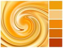 Fondo astratto del caramello con i campioni di colore della tavolozza Immagini Stock Libere da Diritti