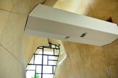 Fondo astratto del cemento concreto della curva della parete dei dettagli di architettura fotografia stock libera da diritti
