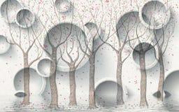 fondo astratto del cerchio 3d royalty illustrazione gratis