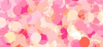 Fondo astratto del cerchio nel rosa Fotografia Stock