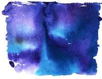 Fondo astratto del cielo dell'acquerello Fotografie Stock