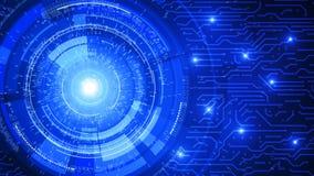 Fondo astratto del circuito di tecnologia su fondo blu fotografia stock libera da diritti