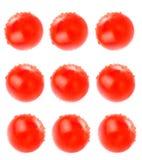 Fondo astratto del collage o dell'alimento del pomodoro Fotografie Stock