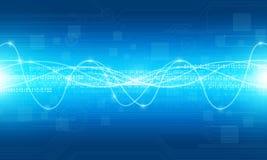 Fondo astratto del collegamento a Internet di tecnologia Immagine Stock