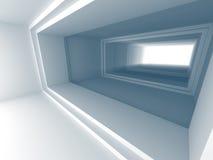 Fondo astratto del corridoio 3d del tunnel Immagini Stock Libere da Diritti