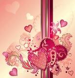 Fondo astratto del cuore dei biglietti di S. Valentino Immagine Stock
