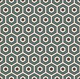 Fondo astratto del favo I colori blu hanno ripetuto la carta da parati del mosaico delle mattonelle di esagono Modello senza cuci Immagini Stock