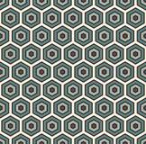 Fondo astratto del favo I colori blu hanno ripetuto la carta da parati del mosaico delle mattonelle di esagono Modello senza cuci Fotografia Stock Libera da Diritti