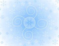 Fondo astratto del fiocco di neve Immagini Stock Libere da Diritti