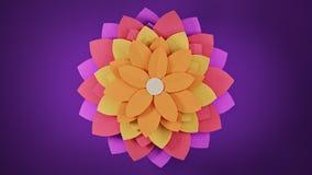 Fondo astratto del fiore di carta, rappresentazione 3d royalty illustrazione gratis