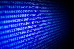 Fondo astratto del flusso di bit di dati Immagine Stock Libera da Diritti