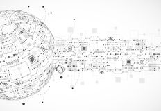 Fondo astratto del globo di tecnologia royalty illustrazione gratis