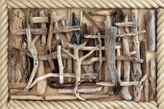 Fondo astratto del legname galleggiante Fotografia Stock Libera da Diritti