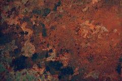 Fondo astratto del metallo della ruggine Fotografia Stock