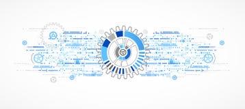 Fondo astratto del modello di affari di tecnologia Immagini Stock