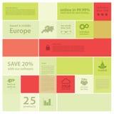 Fondo astratto del mosaico di vettore. Modello di Infographic con il pla Fotografie Stock Libere da Diritti