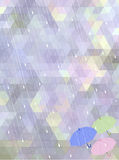 Fondo astratto del mosaico nel concetto di stagione delle pioggie Fotografia Stock Libera da Diritti