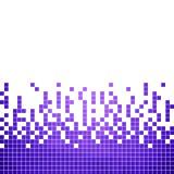 Fondo astratto del mosaico del pixel del quadrato di vettore Immagini Stock Libere da Diritti