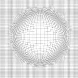 Fondo astratto del paesaggio di vettore Griglia del Cyberspace illustrazione di vettore di tecnologia 3d illustrazione vettoriale