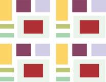 Fondo astratto del quadrato 3d, mattonelle variopinte, geometriche, vettore Fotografie Stock