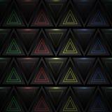 Fondo astratto del triangolo con gli elementi al neon Immagini Stock