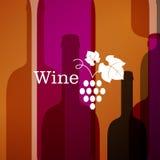 Fondo astratto del vino Fotografie Stock Libere da Diritti
