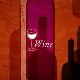Fondo astratto del vino Fotografia Stock