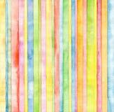 Fondo astratto dell'acquerello della striscia Fotografia Stock