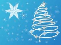 Fondo astratto dell'albero di Natale Immagini Stock