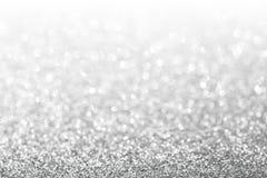 Fondo astratto dell'argento di scintillio Fotografia Stock