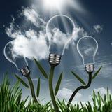 Fondo astratto dell'energia alternativa Fotografia Stock