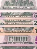 Fondo astratto dell'estratto del fondo del dollaro americano contanti fotografie stock