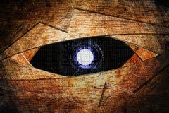 Fondo astratto dell'occhio del robot Fotografia Stock